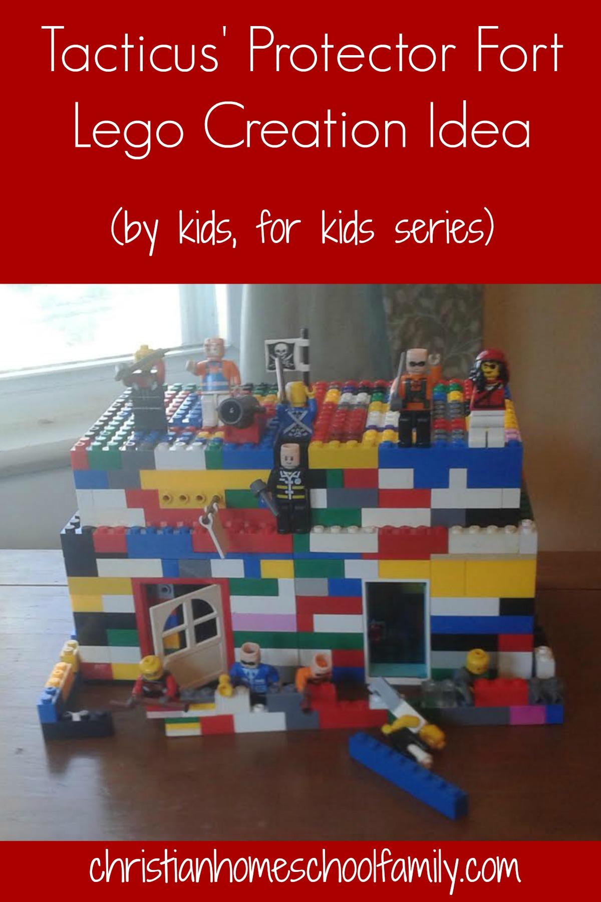 Lego fort creation idea | Christian Homeschool Family
