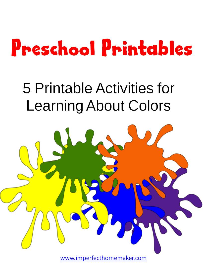 preschool printables learning colors christian homeschool family. Black Bedroom Furniture Sets. Home Design Ideas