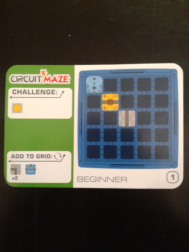 circuit maze challenge card
