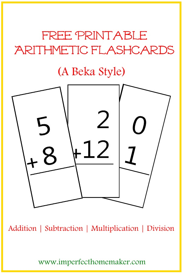 printable flash card maker printable addition flashcards christian homeschool family 24068 | arithmetic flashcards