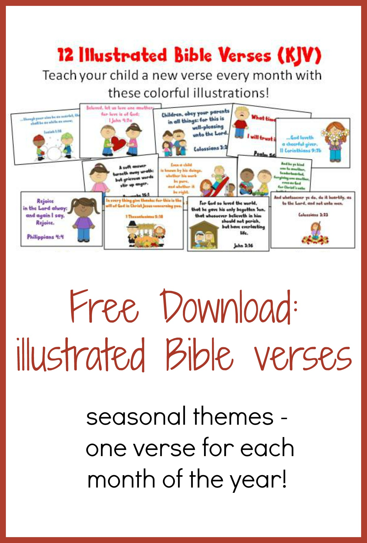 illustrated bible verses for kids kjv christian homeschool family